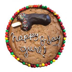 Cookie cake with penis topper