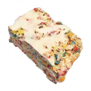 Frosted Fruity Krispie treat