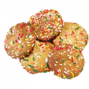 Sugar cookie minis with rainbow sprinkles