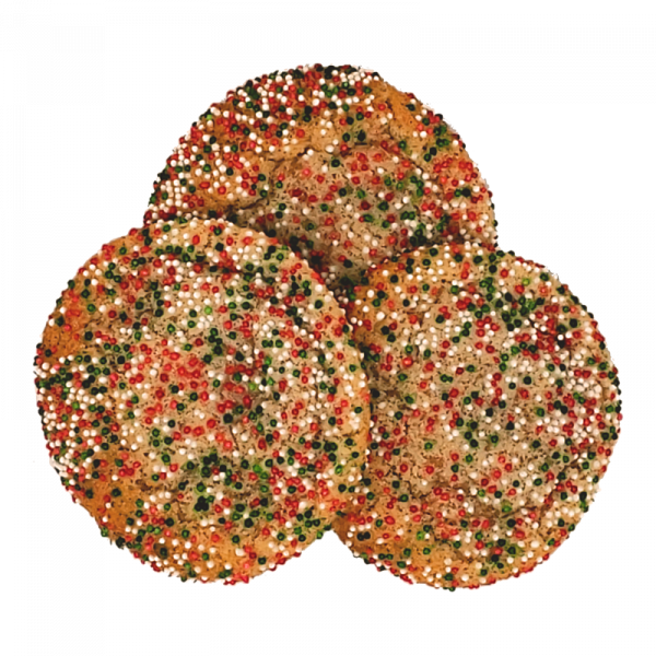 Holiday Sugar Cookies with decorative sprinkles