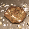 White chocolate coconut macadamia nut cookie
