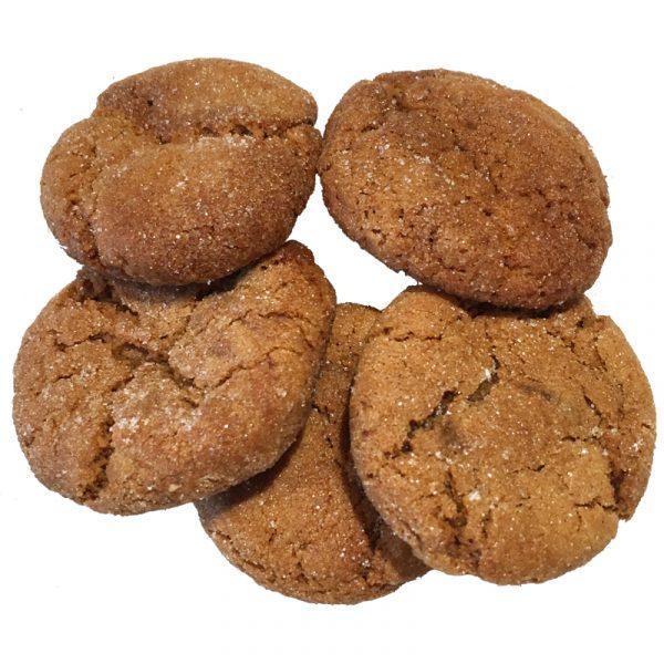 Ginger snap mini cookies vegan
