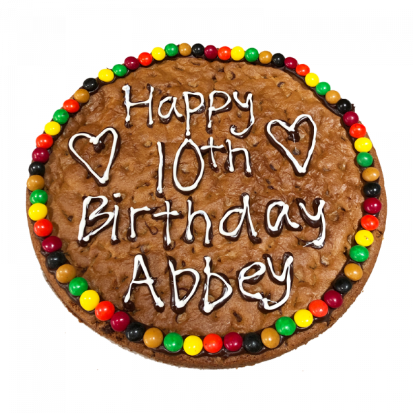 Birthday cookie cake