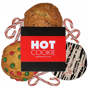 Hot Cookie Holiday 3-Pack Gift Box peppermint bliss, chocolate chip, holiday Pokie
