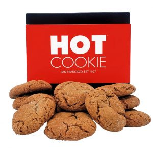 Ginger Snap Gift Box - A dozen vegan ginger snap mini cookies